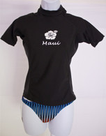 Women's Short Sleeve Black Rash Guard