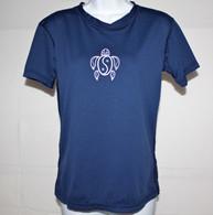 Women's Short Sleeve Navy Honu UV Shirt