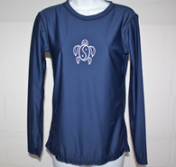 Women's Long Sleeve Navy Honu UV Shirt