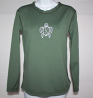 Women's Long Sleeve Olive Honu UV Shirt