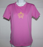 Women's Short Sleeve Dark Pink Honu UV Shirt