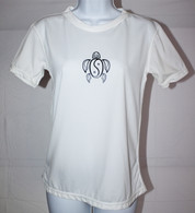 Women's Short Sleeve White Honu UV Shirt