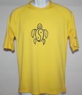 Men's Short Sleeve Yellow Honu UV Shirt