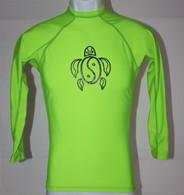 Men's Long Sleeve Neon Green Honu Rash guard