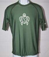 Men's Short Sleeve Olive Green Honu UV Shirt