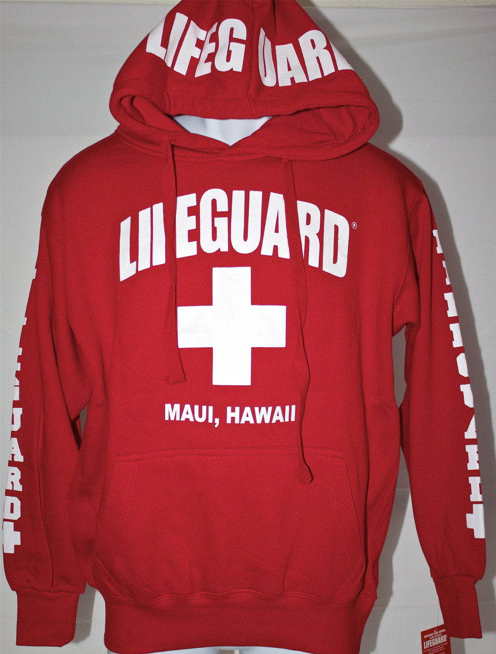 03793318d9681 Lifeguard Hoodie in Red (Unisex Sizing) - (808)661-7828 Maui s Beach House