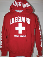 Lifeguard Hoodie in Red (Unisex Sizing)