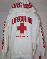 Lifeguard Hoodie in White (Unisex Sizing)