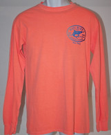 Men's MMBH Neon Orange Shark Long Sleeve Shirt