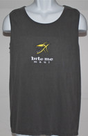 Men's Gray Bite Me Tank