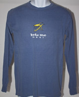 Men's Long Sleeve Blue Bite Me Shirt