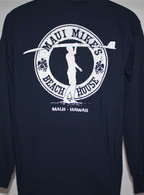 Men's Maui Mike's Surfer - Navy Blue Long Sleeve Shirt