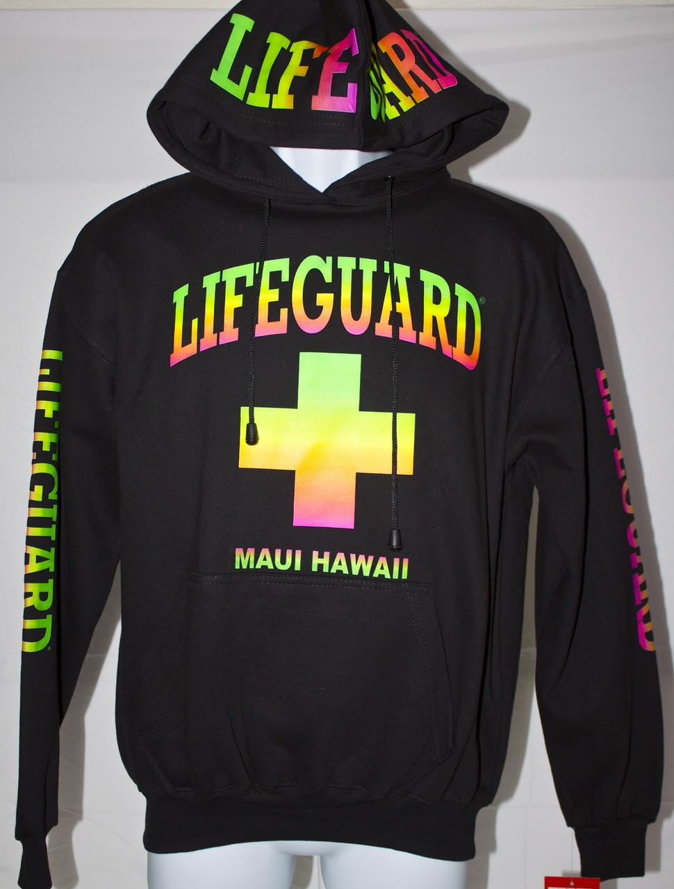 20a31275e68 Neon Lifeguard Hoodie - (808)661-7828 Maui s Beach House