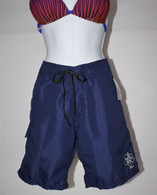 Women's Custom Made High Waisted Long Board Shorts in Navy or Black