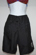Women's Black Quick Dry Long Board Shorts