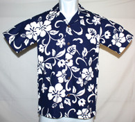 Junior Boy's Aloha Shirt in Royal Hawaiian