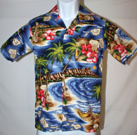 Junior Boy's Aloha Shirt in Hawaiian Paradise