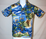 Junior Boy's Aloha Shirt in Old Hawaii