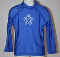 Kid's Long Sleeve Rash Guard in Royal Blue