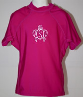 Kid's Short Sleeve Rash Guard in Pink