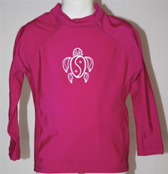 Kid's Long Sleeve Rash Guard in Pink