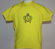 Kid's Short Sleeve Rash Guard in Yellow