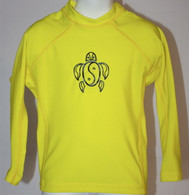 Kid's Long Sleeve Rash Guard in Yellow