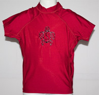 Kid's Short Sleeve Rash Guard in Red