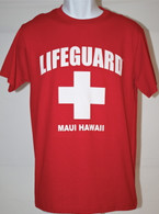 Men's Lifeguard T-shirts in Red