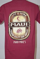 Men's Maui Mike's Life is Primo - Red, Blue & Green T-Shirts