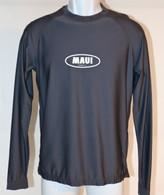 Men's Long Sleeve UV Shirt With Maui Logo in Gray