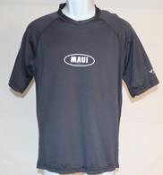 Men's Short Sleeve UV Shirt With Maui Logo In Gray