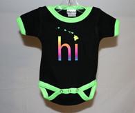 Neon Green HI Islands Baby Onesie