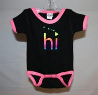 Neon Pink HI Islands Baby Onesie