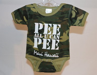 """Pee All You Can Pee"" Baby Onesie"