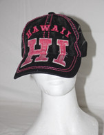 Hawaii HI Hat In Black/Hot Pink