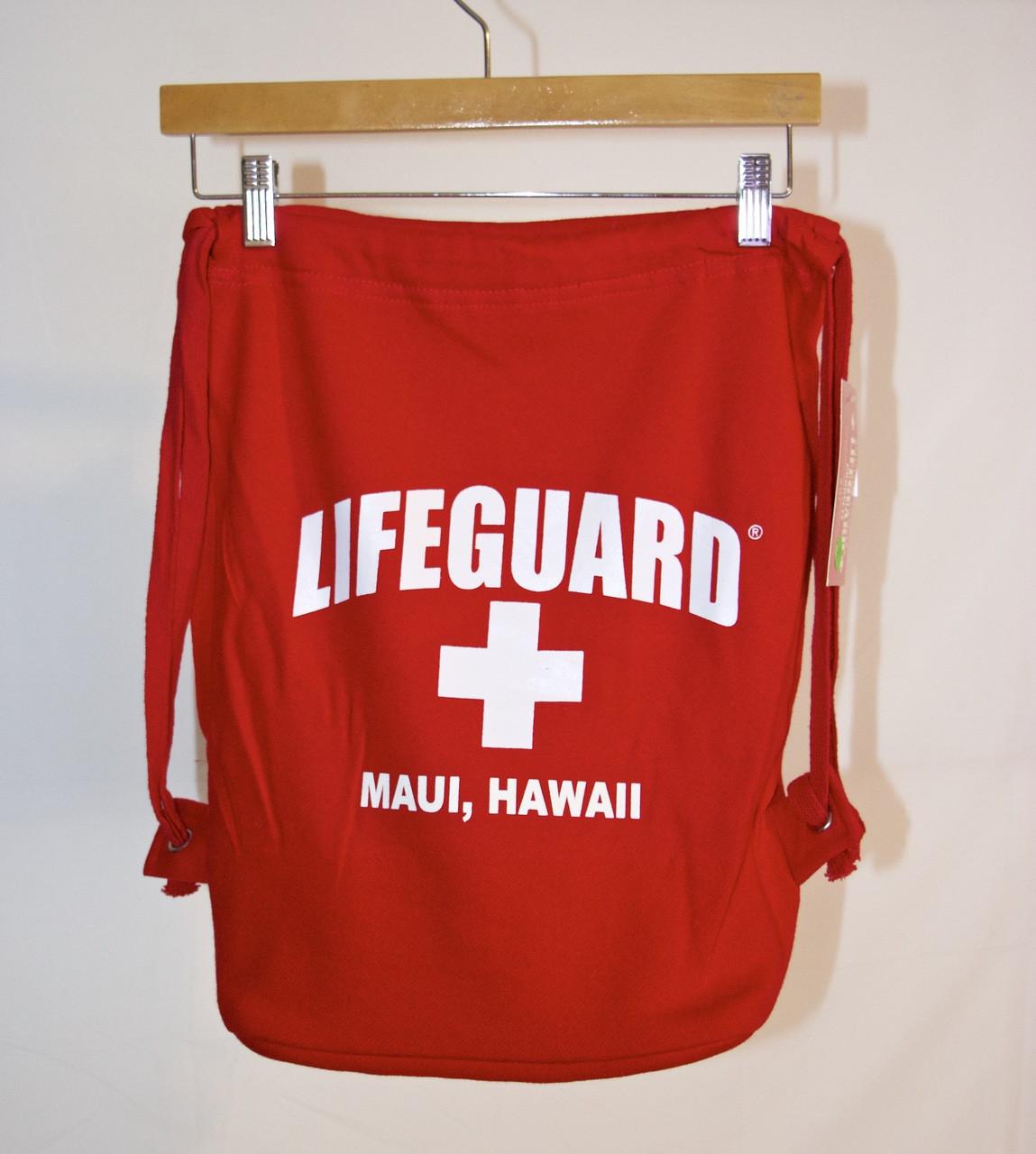 b7a045b2443 Lifeguard Pull-String Backpack - (808)661-7828 Maui s Beach House