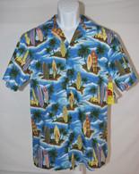 Men's Aloha Shirt In Surf Board Paradise