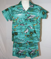Boys Aloha Shirt and Short Set in Hawaiian Sea-Life
