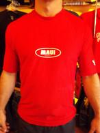 Red Short Sleeve UV Shirt w/ Maui Logo