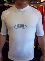 White Short Sleeve UV Shirt w/ Maui Logo