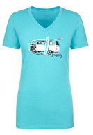 "Maui Rippers Women's ""Love the Journey"" VW T-Shirt in Aqua"