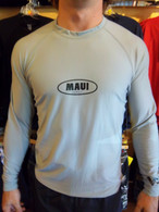 Grey Long Sleeve UV Shirt w/ Maui Logo