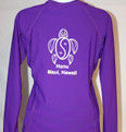 fe0492bd4 ... UV Shirts; Women's Long Sleeve Purple Honu Rash Guard. Image 1. Image  1. Image 2