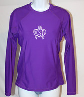 Women's Long Sleeve Purple Honu Rash Guard