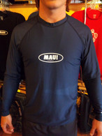 Navy Long Sleeve UV Shirt w/ Maui Logo