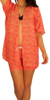 Women's Maui Rippers Kimono Wrap in Coral Palms