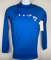Hawaiian Islands Royal Blue Long Sleeve UV Shirt