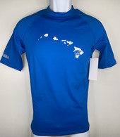 Hawaiian Islands Royal Blue Short Sleeve UV Shirt