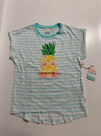 Little Girls Aloha Hawaii Pineapple T-Shirt